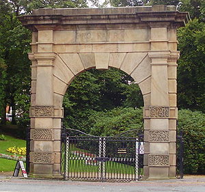 The Memorial Arch at the entrance to Astley Park