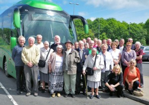 Passengers on the recent battlefields trip included Chorley residents Sister Francis (centre) and Normandy veteran Stan Dickinson (centre left)