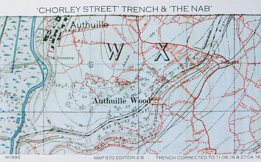 Chorley Pals Memorial - Chorley trench \'found\' on the Somme battlefield