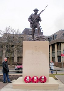 The new Chorley Pals Memorial