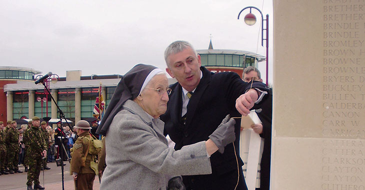 The Chorley Pals Memorial being unveiled in 2010