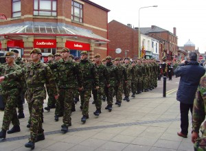 The armed forces took part in the unveiling ceremony