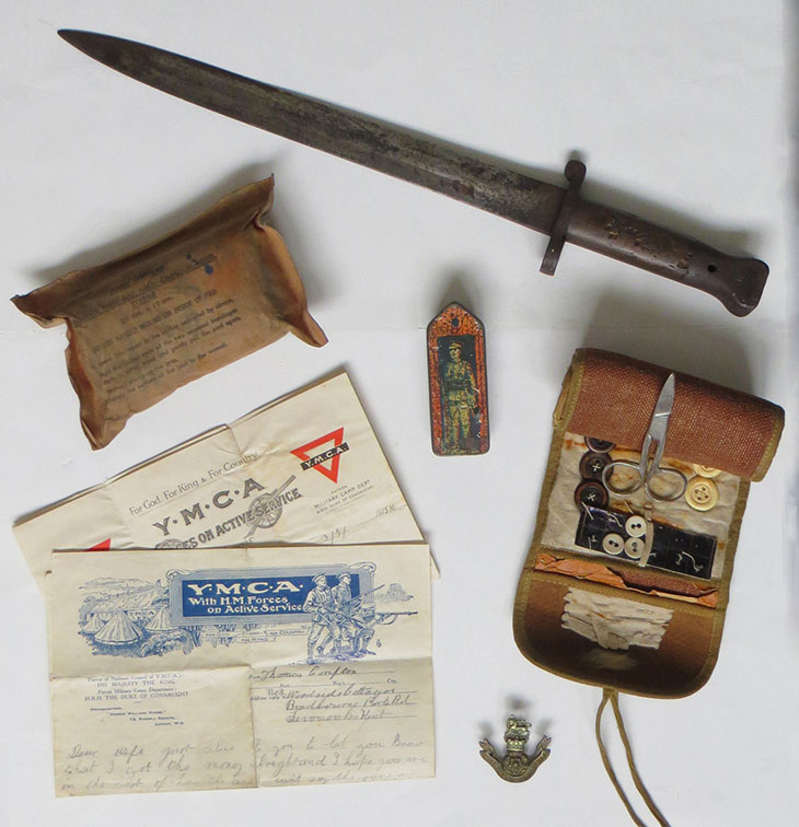 Some of the World War 1 artefacts that will be added to the Chorley Remembers Experience exhibition