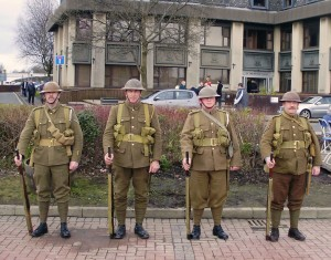 The Manchester Regiment 1914-1918 recreate how the Pals would have looked in World War One