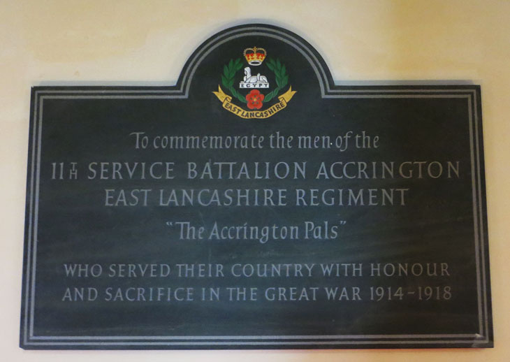 Accrington Pals Plaque
