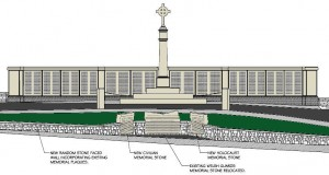 Artist's impression of the proposed work to be carried out at Chorley Cenotaph