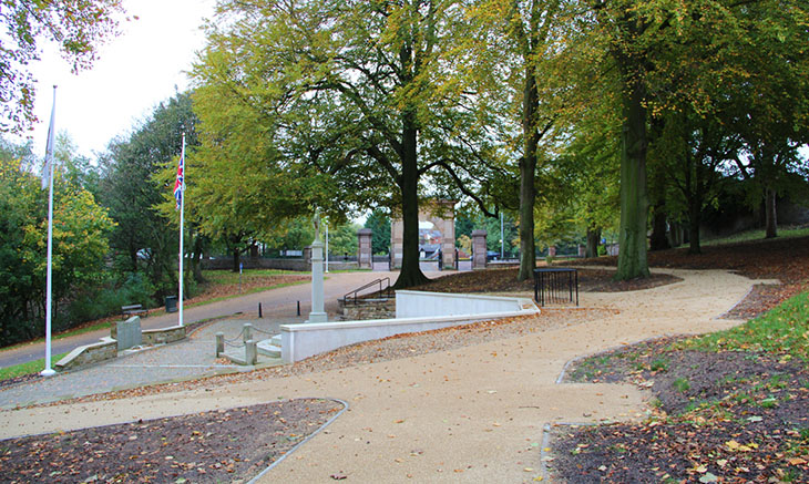 Chorley War Memorial new paths October 2013