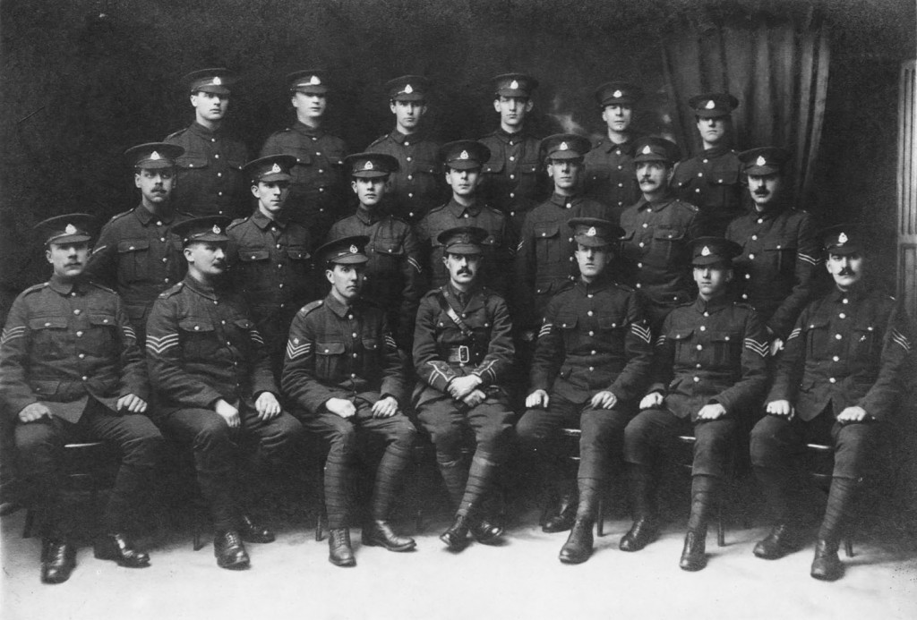 The Chorley Pals in 1915