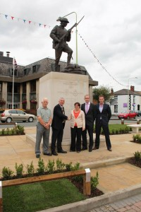 (L to R): John Garwood (Trustee, Chorley Remembers), Lindsay Hoyle MP (Chorley Remembers Trustee), Councillor Beverley Murray (Executive Member (People), Chorley Council), Jamie Dixon (Head of Streetscene & Leisure Contracts, Chorley Council) and Gareth Kellett (Building Surveyor, Liberata UK Ltd).