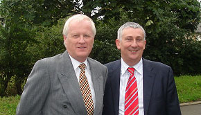 Lindsay Hoyle MP (right) and Steve Williams