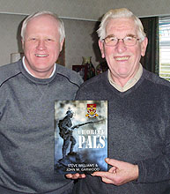 "Steve Williams and John Garwood with the new ""Chorley Pals"" book"
