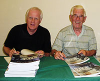 Authors Steve Williams and John Garwood at the launch of their new book