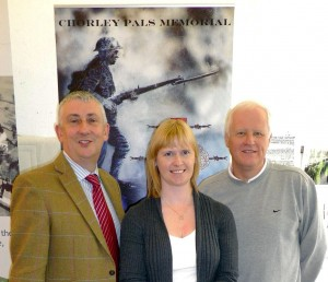 Lindsay Hoyle and Steve Williams with new Project Manager Nikki Davidson-Kerr
