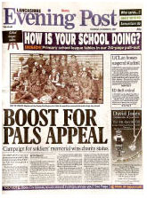 Front Page of the Lancashire Evening Post, Thursday 6th December 2007