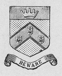 An early example of the correct Chorley crest