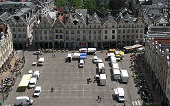 Place de le Heroes from the top of Arras Town Hall
