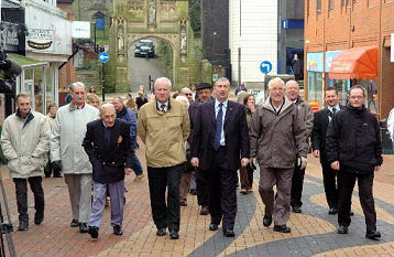 March through Chorley launching the campaign
