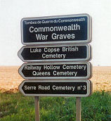 Serre Cemetery sign
