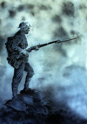 Painting of the proposed statue by local artist Peter Hodgkinson