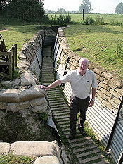 Steve Williams in a trench in Auchonvillers