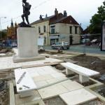 Chorley Pals Memorial upgrade work 130812 1