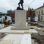 Chorley Pals Memorial upgrade work 130812 2